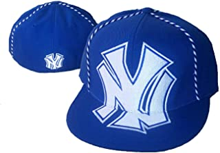 American Needle New York Yankees Fitted 7 3/8 Royal Blue Oversized Logo Hat Cap