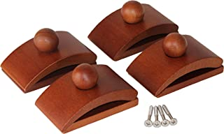Classy Clamps Wooden Quilt Hangers – 4 Large Clips (Dark) and Screws for Wall Hangings. Hang up and Display Quilts, Tapestries, Rugs, Fiber Art, and More!