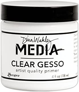 Dina Wakley Media Clear Gesso 120ml Jar-