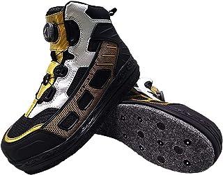 Willsky Chaussures d'eau pour Hommes Profession De Pêche Bottes De Pêche Feutre Sole Sole Steel Nail Wader Entraînement De...