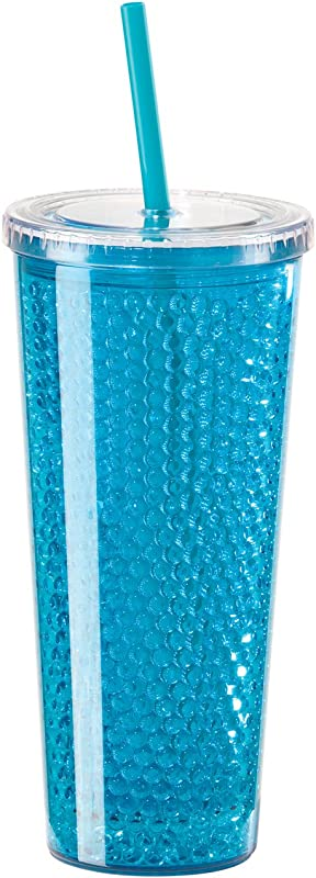 Oggi Double Wall Chill To Go Tumbler 20 Ounce Blue