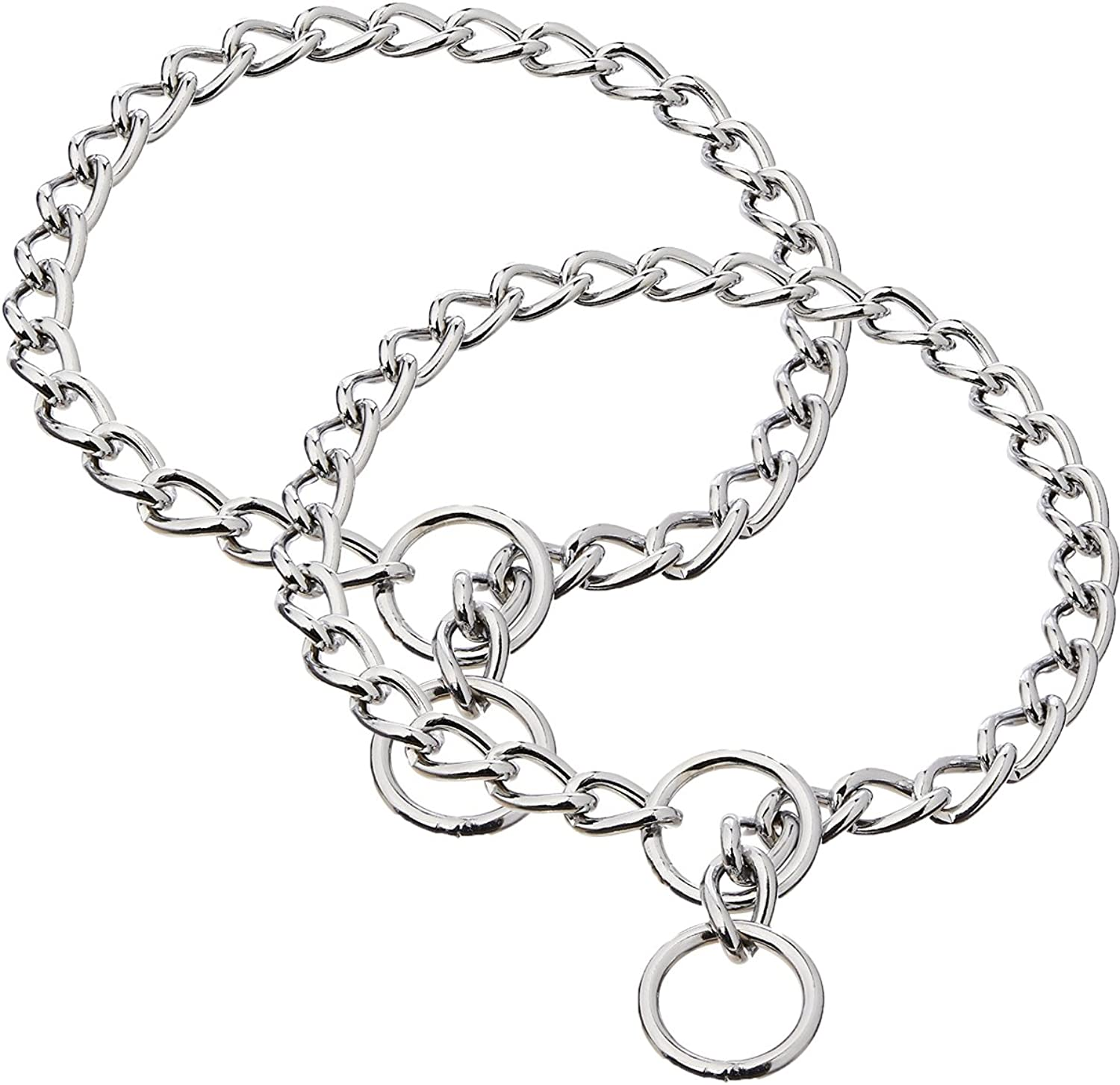 Coastal Pet Products DCP554022 Titan XHeavy Chain Dog Training Choke Collar with 4mm Link, 22inch, Chrome (2 Pack)