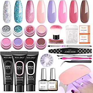 Modelones 6 Colors Solid Cream Gel Polish Set - Soak Off UV Nail Polish Set Gel Nail Art Salon Set Nail Art Painting Colors Pigment with Free Painting Pen