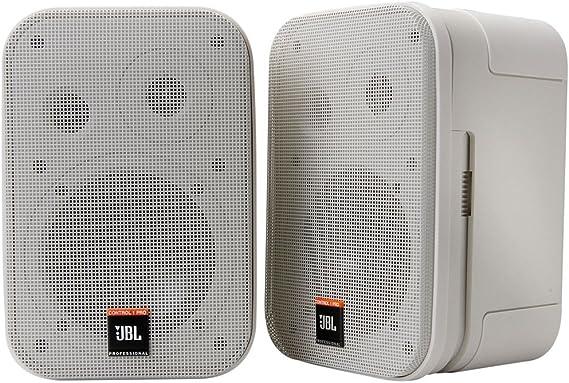 Jbl Control 1 Miniatur Lautsprecher Pro High Performance 150 Watt Studio Monitor Weiß Musikinstrumente