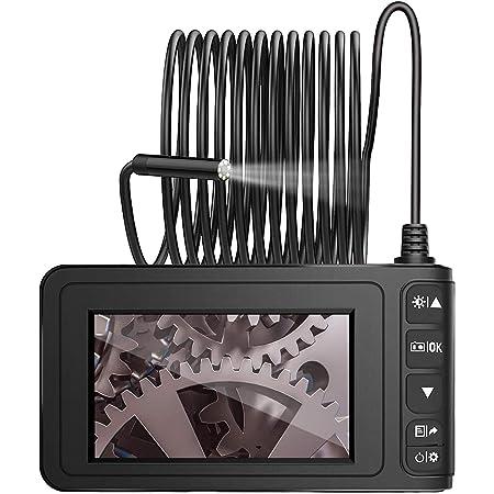 Neoteck Industrie Endoskop Inspektionskamera Hd 4 3 Zoll 1080p Lcd Monitor 5 M Wasserdichte Halbstarre Flexible Schlangenkamera Mit 32g Speicherkarte Gewerbe Industrie Wissenschaft