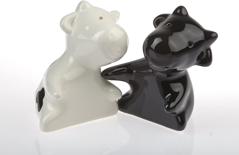 Tiere Salzstreuer By-Bers gr/üner Frosch in Umarmung aus Keramik Maus auch als Kuh Salz- und Pfefferstreuer Set als Geschenk