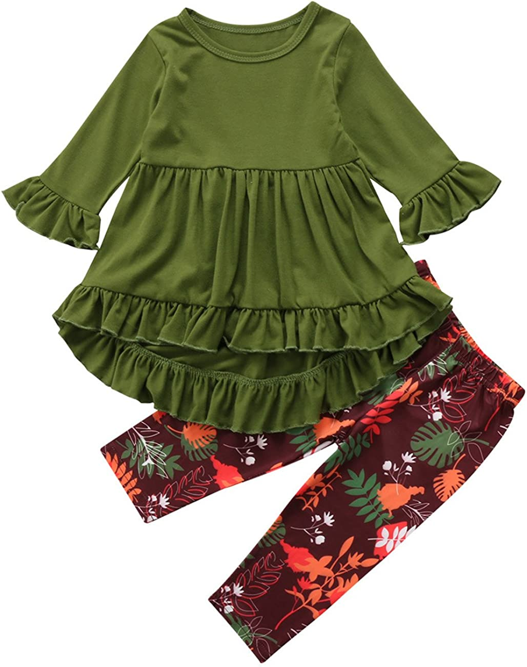Toddler Little Girls Hi Lo Ruffle Dress Top Floral Max Super intense SALE 49% OFF Tunic Flare L