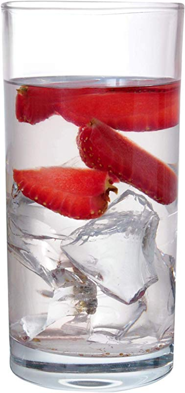 GLASSCO Cocktail Glasses Premium Highball Tumblers Clear 9 8 Ounce Cups Set Of 3