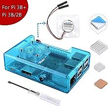 MakerFun Case para Raspberry Pi 3 Modelo B + (B Plus), con Ventilador de refrigeración y 3PCS disipadores térmicos para Raspberry Pi 3/2 Modelo B (no Incluye Raspberry Pi Board) (Azul)