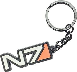 Mass Effect N7 Black Rubber Keychain