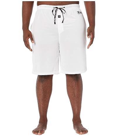 Stacy Adams Big Tall Sleep Shorts (White) Men