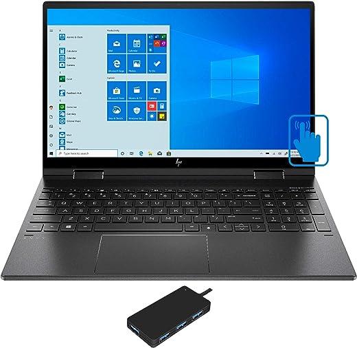 "HP Envy x360-15z Home and Business Laptop (AMD Ryzen 7 3700U 4-Core, 32GB RAM, 1TB PCIe SSD, 15.6"" Touch Full HD (1920x1080), AMD Vega 10, Fingerprint, WiFi, Bluetooth, Webcam, Win 10 Home)"