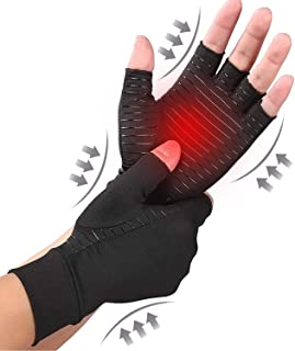 DISCOVERY Copper Compression Arthritis Gloves Content Alleviate Rheumatoid Pains Ease Muscle Tension Relieve Carpal Tunnel...