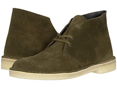 Clarks Desert Boot (Dark Olive Suede) Men