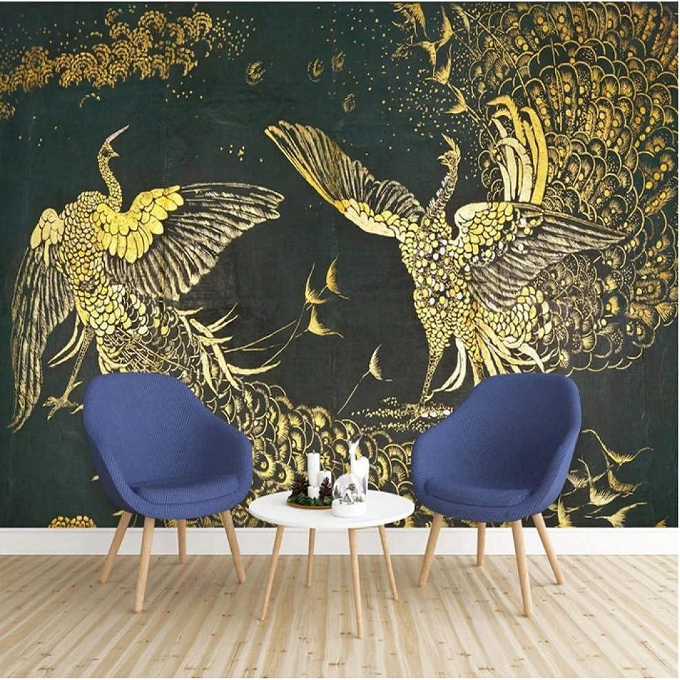 N\ A Custom Wallpaper 3D Hand Murals Painted Crea Sale Special Price Max 77% OFF Golden Phoenix