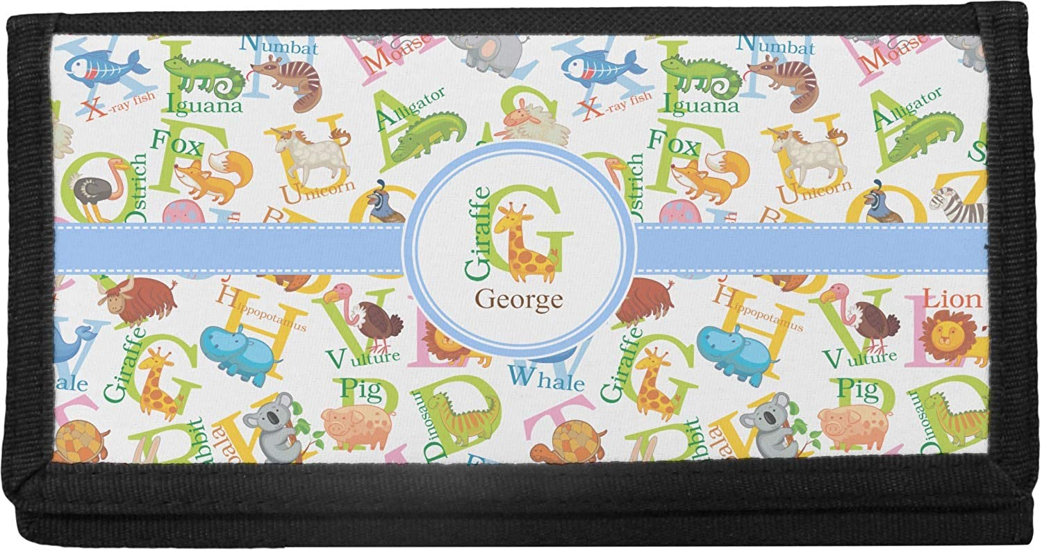 Animal Alphabet Canvas Checkbook Cover Max Ranking TOP8 72% OFF Personalized