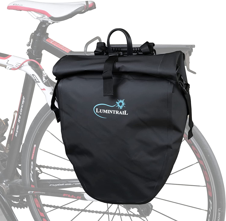 High order Lumintrail Brand new Bike Pannier Waterproof 25L Rack Bicycle Touring Rear