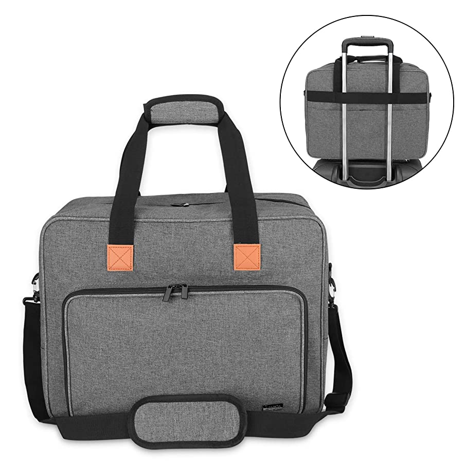 Luxja Sewing Machine Bag, Portable Tote Bag Compatible with Most Singer, Brother Sewing Machines and Extra Sewing Accessories, Gray
