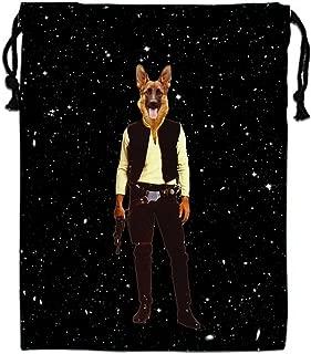 HUOPR5Q Star-Polka-dot Drawstring Backpack Sport Gym Sack Shoulder Bulk Bag Dance Bag for School Travel
