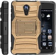TurtleArmor   ZTE Uhura Case   ZTE Ultra Case   ZTE Quest Case   N817 [Hyper Shock] Hybrid Dual Layer Armor Holster Belt Clip Case Kickstand - Maple Wood
