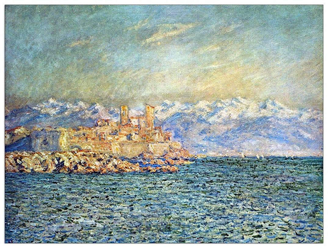 ArtPlaza TW91969 Monet Claude - The Old Fort in Antibes Decorative Panel 51x39.5 Inch Multicolored