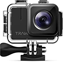 APEMAN 【Nuova Versione-50FPS Trawo Action Cam Ultra HD 4K WiFi 20MP Avanzato Sensore Videocamera EIS Stabilizzata 40M Impermeabile 2'' IPS Screen Fotocamera Subacquea con 2 1350mAh Batterie