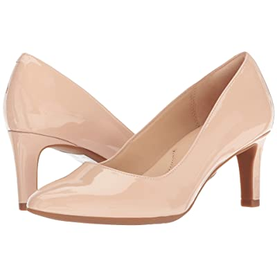 Clarks Calla Rose (Cream Patent Leather) High Heels
