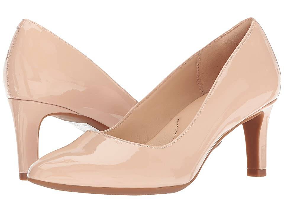 Clarks Calla Rose (Cream Patent Leather) High Heels