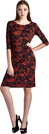 5bcfff6fa0d9f8 Marcelle Margaux 3 4 Sleeve Slim Fit Sheath Dress with Abstract Patterns