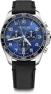 Victorinox Fieldforce Classic Chrono, Blue dial, Black Leather Strap