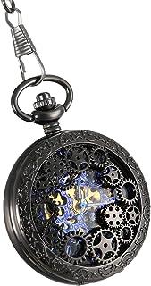 Lancardo Reloj de Bolsillo Mecánico de Cuerda Manual