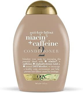 OGX Anti-Hair Fallout Niacin3 + Caffeine Conditioner, 13 Fl Oz