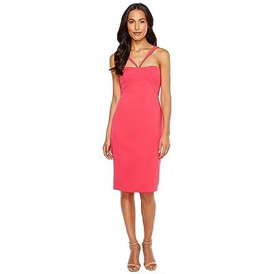 Laundry by Shelli Segal Crepe Midi Dress (Bright Rose) Women