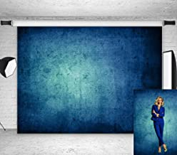 Qian Vinyl 7x5ft Graduation Portrait Photography Backdrops Solid Blue Grunge Color Abstract Photo Studio Booth Background Photocall for Photographer Kids Children Adults