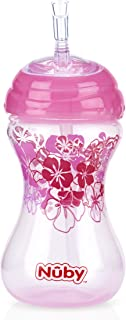Nuby Active Sipeez Clik-It Flex Straw With Cover 300 ml 12m+ Pink - 10110281