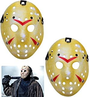 TinaWood 2PCS Costume Jason Mask Cosplay Halloween Masquerade Party Horror Mask Christmas for Boys Kids, Men and Adults