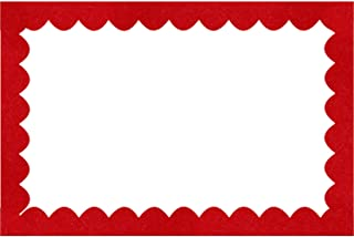 Shappy Scalloped Border Trim, Felt Decorative Border for Bulletin Board and Wall Decoration, 36 Feet Total Length (Red)