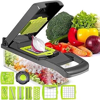 LOFFU Mandoline Multifonctions,12 en 1 Mandolines de Cuisine Coupe Légumes, Trancheur de Légumes des Decoupe Légumes Rapid...