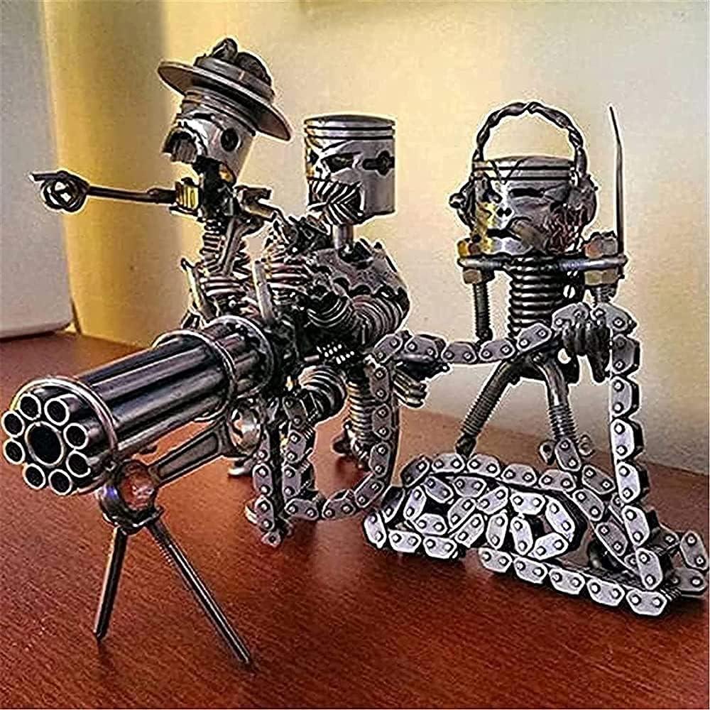 LUJMKG Recycling Nippon regular agency Scrap Metal Warrior Sculpture Challenge the lowest price of Japan ☆ Standing Creative
