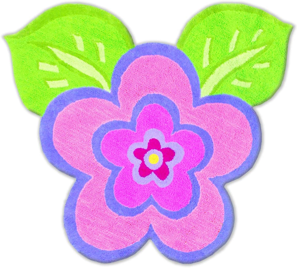 Amazon Com The Rug Market Kids Rugs My Pretty Flower Pink Green Purple 2 8 X 4 8 Furniture Decor