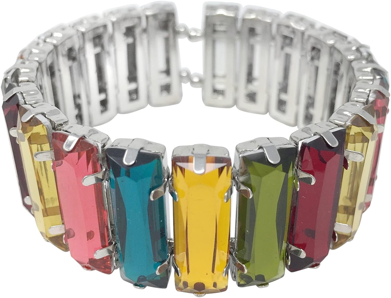 Gypsy Jewels Fun Lightweight Silver Tone Cuff Bangle Bracelet -