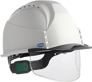 住ベテクノプラスチック ヘルメット遮熱シリーズ 通気孔付・透明ひさし・スチロールライナー付・遮熱ホワイト/スモーク KKC3S-B-NCOOL-WH-S