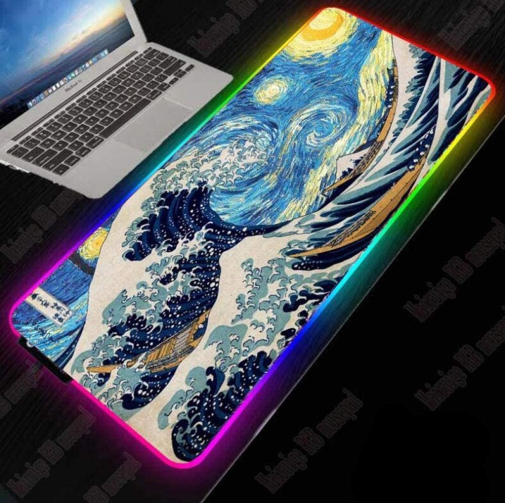 Mouse Pads Factory outlet RGB Gaming Pad USB Minneapolis Mall Led Extended Key Illuminated