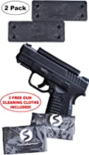 Steindamm Gun Magnet Mount - 2 Pack | 43 Lbs Rated | with 2 Free Gun Cleaning Cloths | Soft Rubber Coated Magnetic Gun Mount & Holster Holder for Handgun, Shotgun, Rifle, Car, Wall, Vehicle or Desk