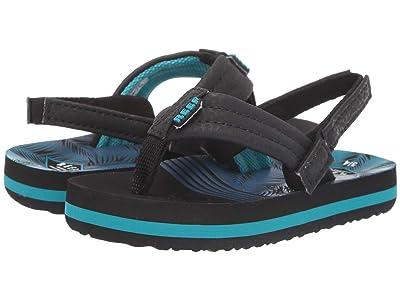 Reef Kids Ahi (Infant/Toddler/Little Kid/Big Kid) (Aqua Palms) Boys Shoes