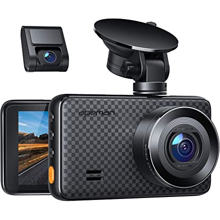 APEMAN 2K &1080P Dual Dash Cam, 2688x1520P max, Support 128GB, Front and Rear Camera for Cars with 3 Inch IPS Screen, Driving Recorder with IR Sensor Night Vision, Motion Detection, Parking Monitor