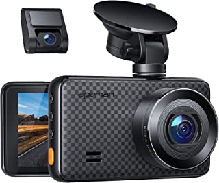 APEMAN 2K &1080P Dual Dash Cam, 2688x1520P max, Support 128GB, Front and Rear Camera for Cars with 3 Inch IPS Screen, Driv...