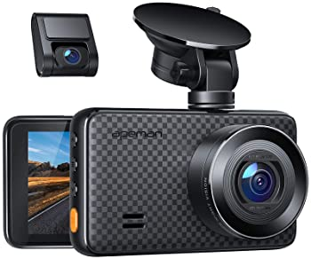 APEMAN 2K &1080P Dual Dash Cam, 2688x1520P max, Support 128GB, Front and Rear Camera for Cars with 3 Inch IPS Screen,...