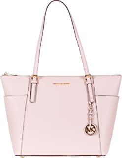 Michael Kors Women Jet Set Large Top-zip Saffiano Leather Tote Shoulder Bag