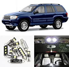 LED Interior Dome Roof Light - Led Jeep Light Kit For 1999-2004 Jeep Grand Cherokee accessories Map Dome Trunk License Light (1999-2004 Jeep Grand Cherokee) 11pcs/package